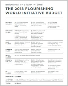 2018 Flourishing World Budget